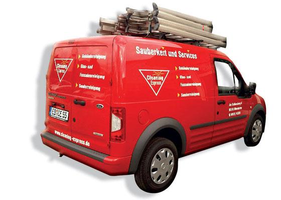 Firmenwagen der Cleaning Express Gebäudedienste GmbH